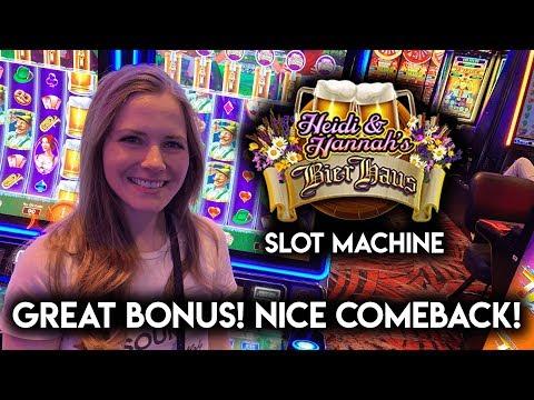 NEW! Heidi and Hannah's Bier Haus! Slot Machine! Great BONUS! Awesome Comeback!!