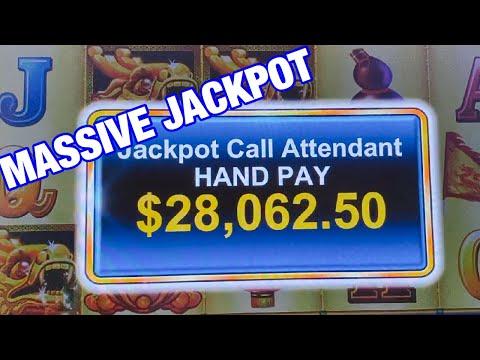 GRANDE JACKPOT/ MASSIVE JACKPOT WIN FREE GAMES/ HARBOR FESTIVAL SLOT MACHINE