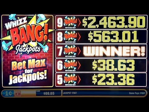 Whizz Bang Jackpots Slot Machine *AS IT HAPPENS* 7-Bang Progressive &  Bonus!